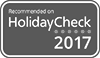 Recommed on Holidaycheck 2017