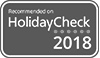Recommed on Holidaycheck 2018