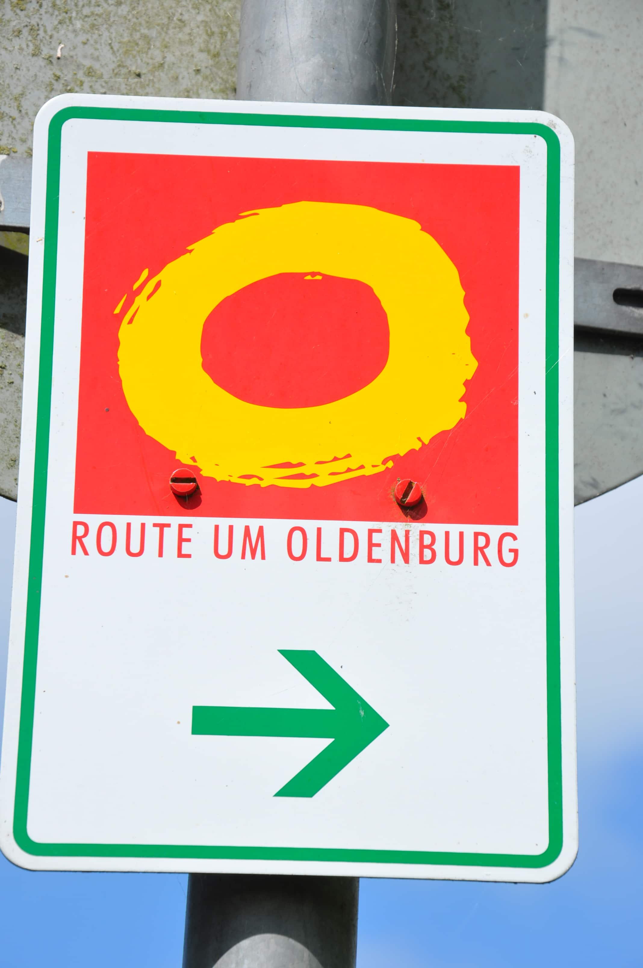 Beschilderung Route um Oldenburg