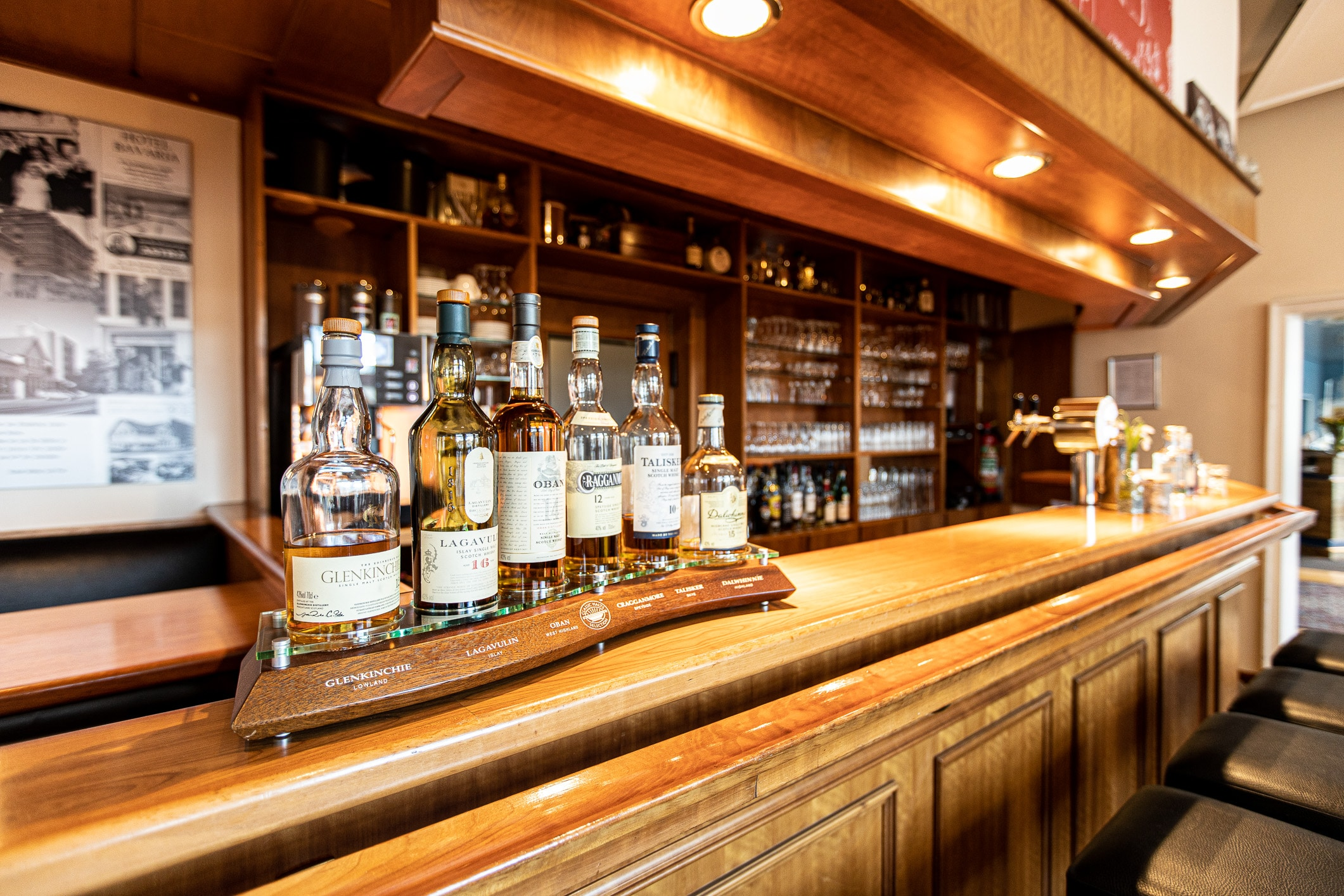 Whiskey-Auswahl Hotel Bavaria